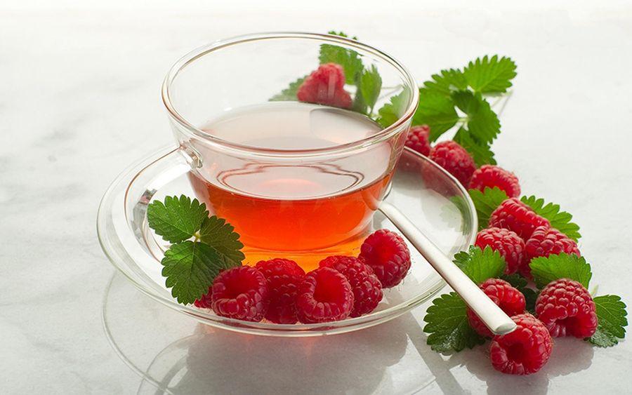 ceai din frunze de zmeur